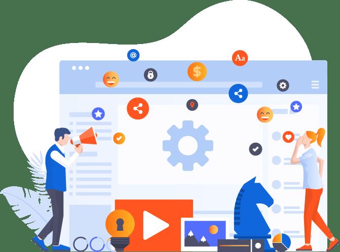 Illustration idée de startup
