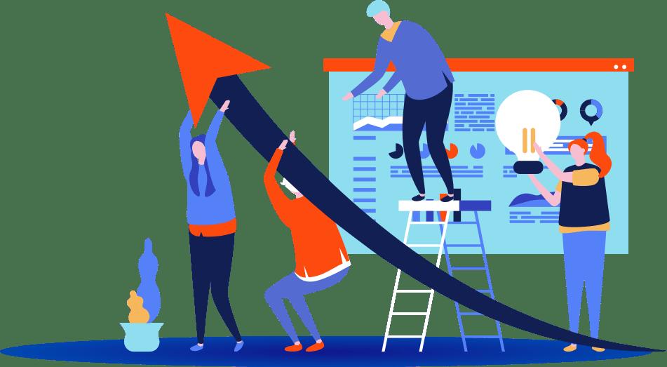 Illustration d'une startup en croissance suite au programme d'excubation xCUB