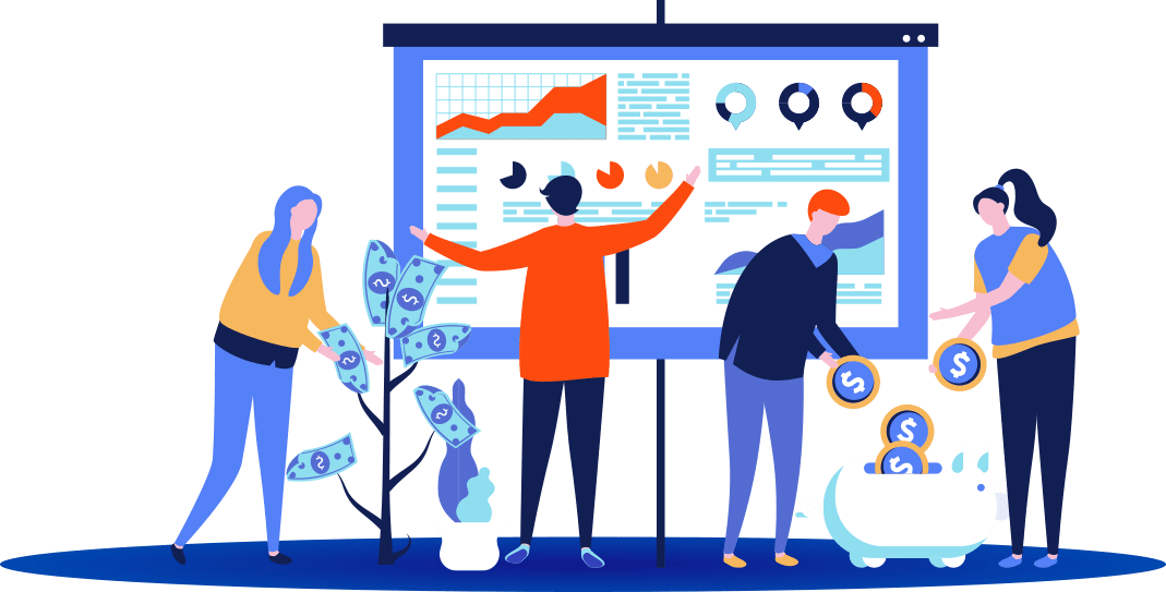 Illustration gestion finance pme